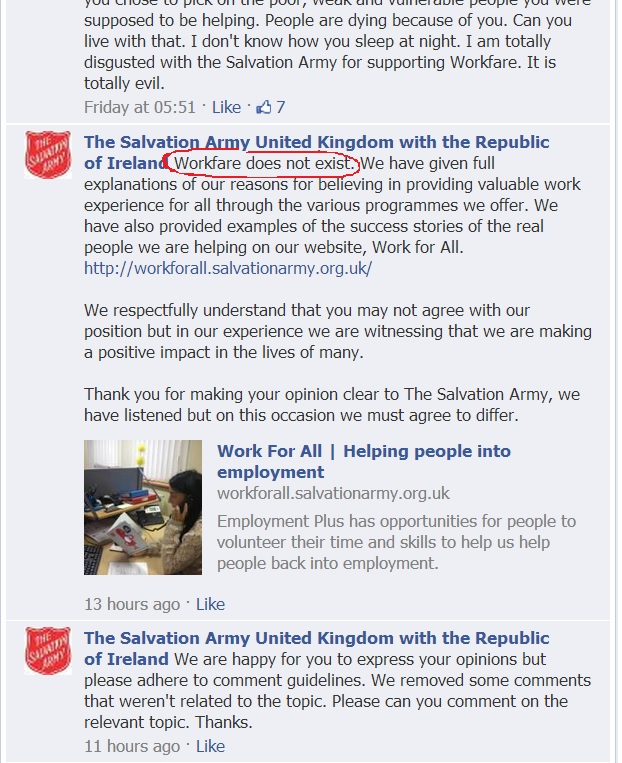 salvation army workfare