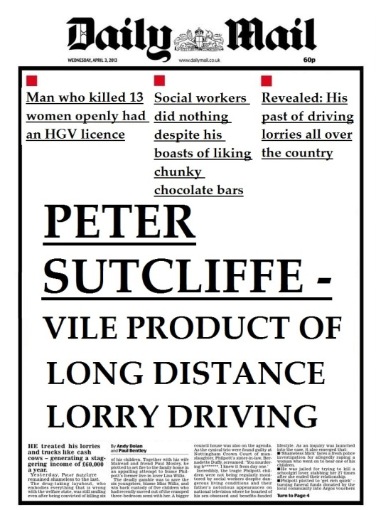 daily mail PETER SUTCLIFFE