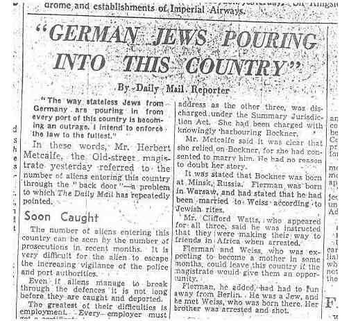 Here s an article showing what the mail thought about jews just one
