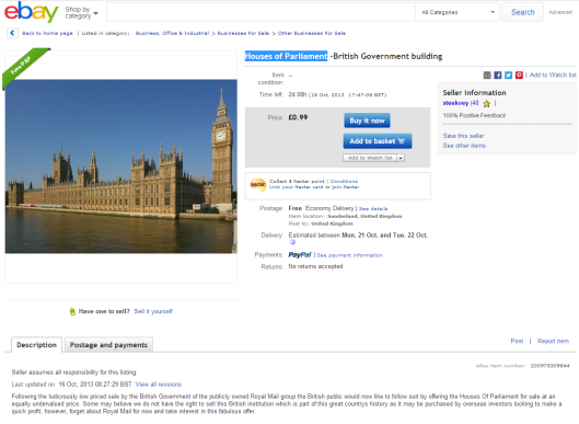 parliament for sale on ebay