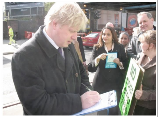 Boris Johnson signs a petition against closures