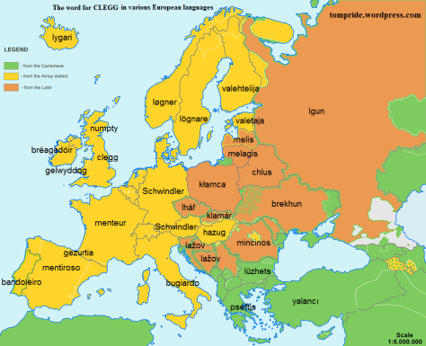 clegg liar etymological map