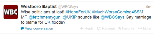Westboro supports and UKIP