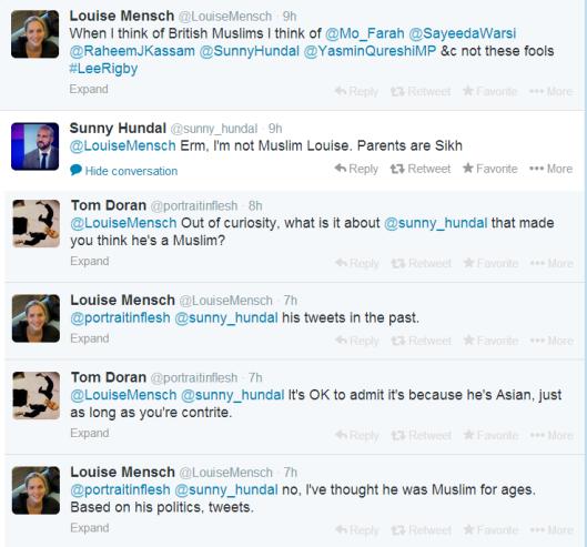 Lousie Mensch - muslim tweets