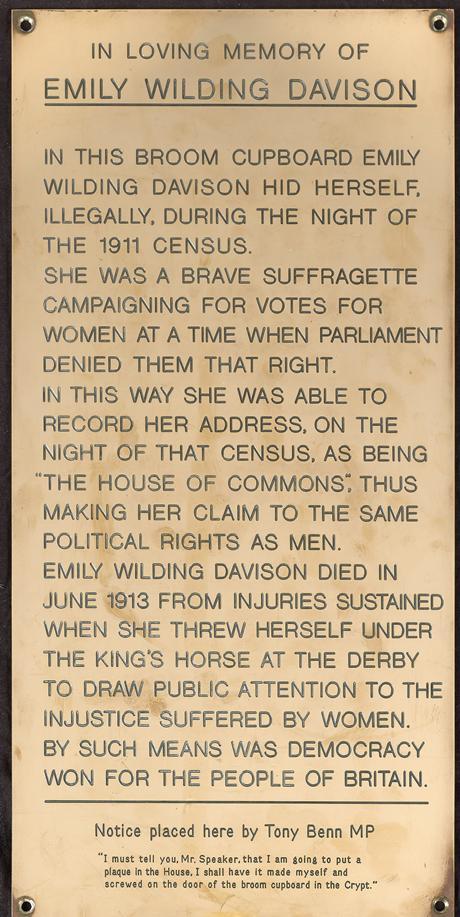 emily wilding davison plaque