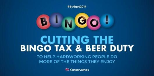 tory bingo and beer