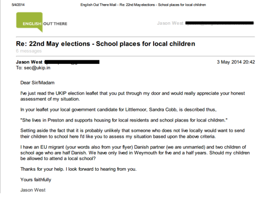 school places UKIP 1