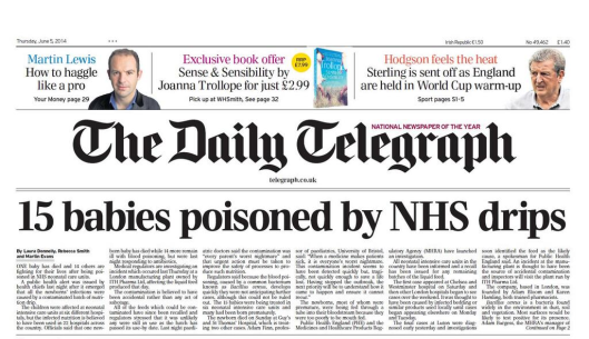 telegraph nhs lies