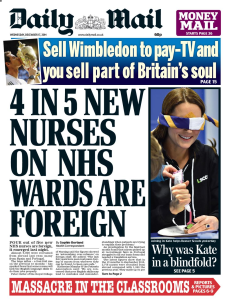 front-page mail nurses