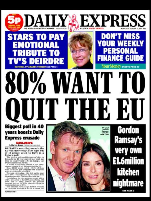 express leave EU