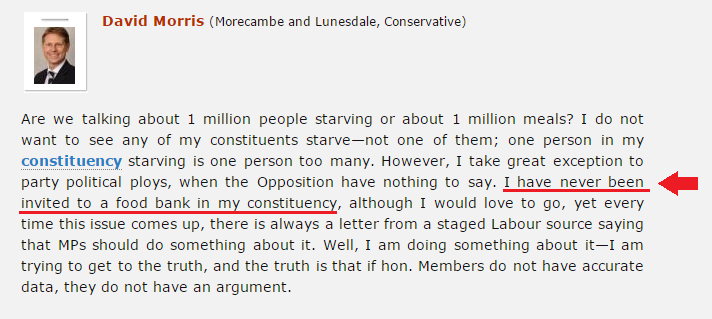 How Tory Mp David Morris Shamelessly Lied To Parliament In