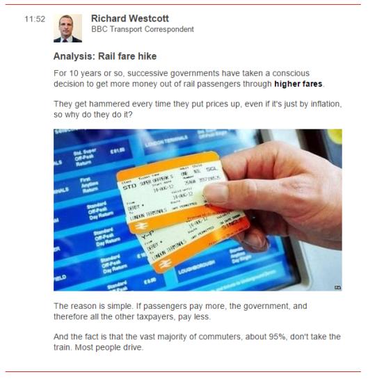 westcott rail fares