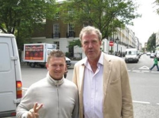Ultra-right-wing racist leader of sinister organisation poses for photograph with Tommy Robinson: