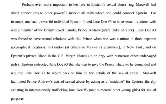 prince andrew sex
