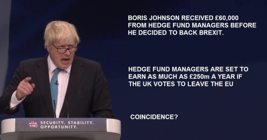 Boris Johnson hedge funds