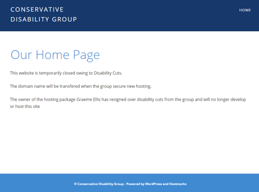 conservative disablitiy group