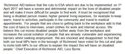richmond aid statement