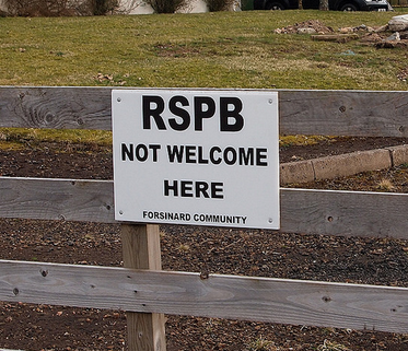 RSPB not welcome