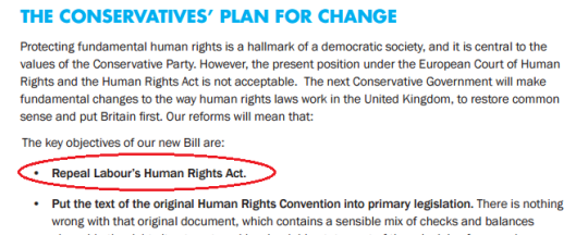 scrap human rights act