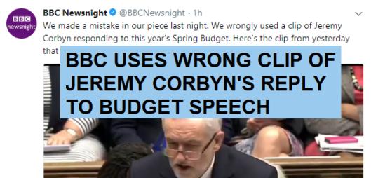 bbc corbyn budget gaffe